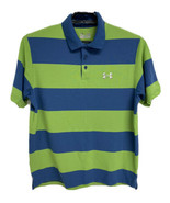 Under Armour heat gear men's regular polo shirt short sleeve striped siz... - $22.12