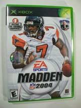 Xbox Madden Nfl 2004 Football Game With Manual Ea Sports UN-TESTED - $8.77