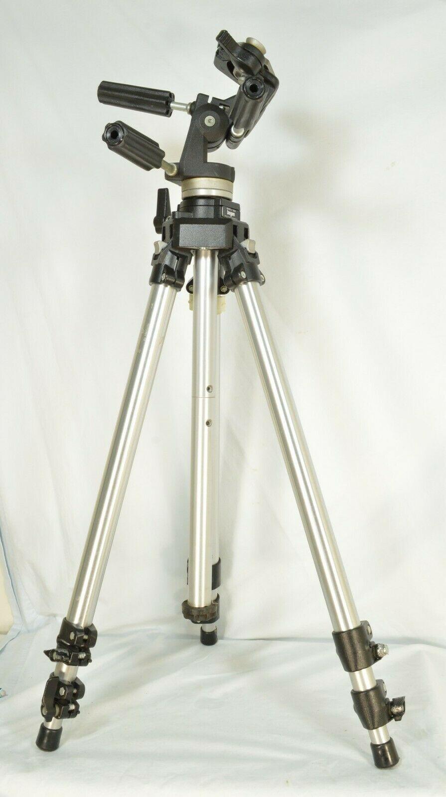 Manfrotto Bogen 3021 pro camera tripod +3047 Deluxe 3-way Pan/tilt Head image 10