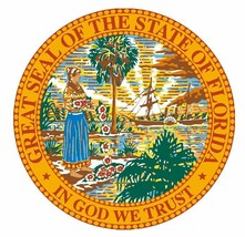Seal of The State of Florida Sticker MADE IN USA R6 CHOOSE SIZE FROM DRO... - $1.45+