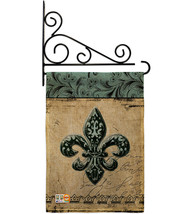 Flower De Luce Burlap - Impressions Decorative Metal Fansy Wall Bracket ... - $33.97