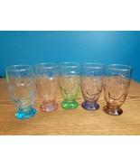 3 D Vintage 1970 Walt Disney Drinking Glasses Set Of 5 K Onishi Japan - $49.45
