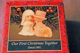 Enesco Precious Moments 1992 Our First Christmas Together Porcelain Ornament - $10.07