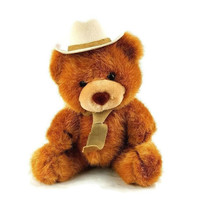 "Russ Berrie Plush Teddy Bear Cowboy Stuffed Animal 10"" - $18.80"