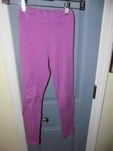 Lularoe Heather Purple Leggings Size L/XL Girl's EUC - $18.17
