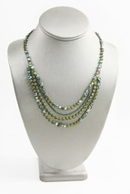ESTATE VINTAGE SIGNED SORRELLI GREEN RHINESTONE CRYSTAL TRIPLE SWAG NECK... - $165.00