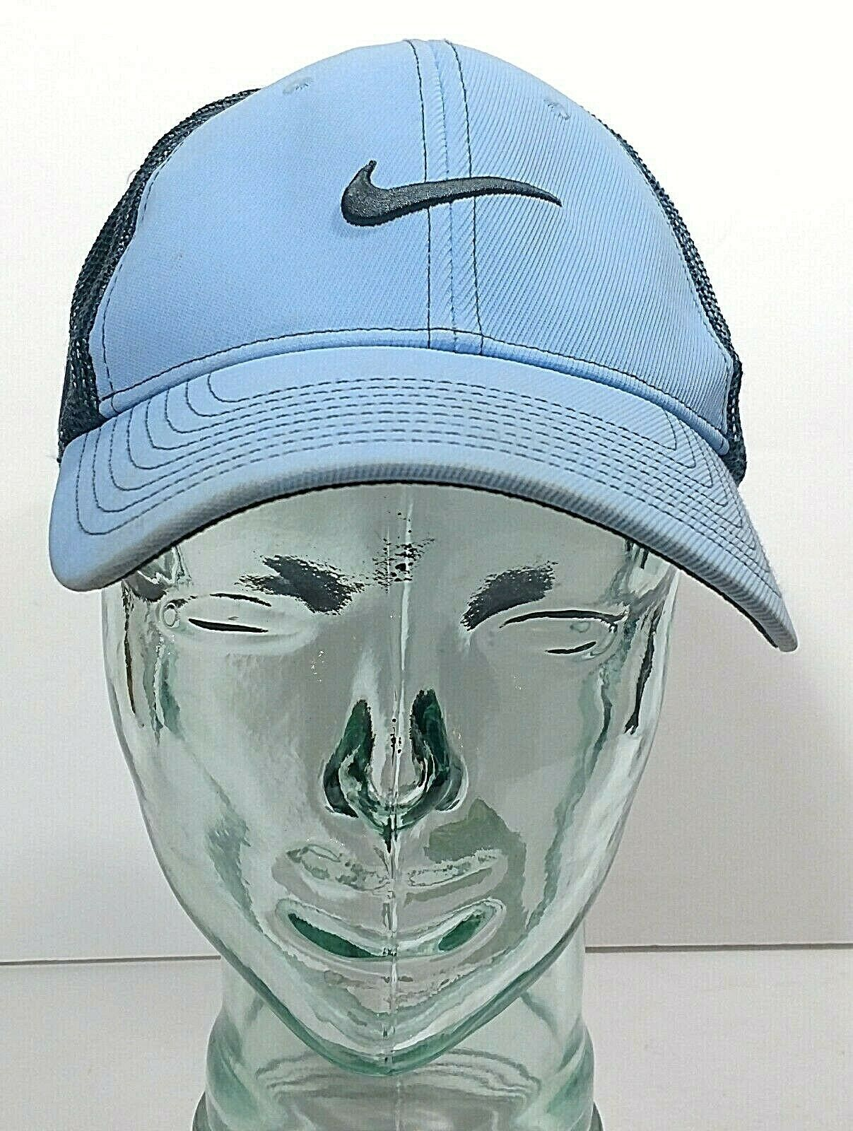 Primary image for NIKE Golf 20XI Vr FlexFit Size M/L Mesh Stretch Baseball Hat Ball Cap Rare Blue