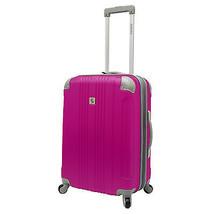 "Malibu Newport 24"" Medium Hot Pink Expand Spinner Suitcase Luggage Trave... - $78.20"