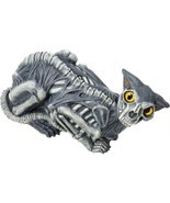 "Zombie Cat Prop 14"" Skeleton Bones Haunted House Spooky Scary Halloween ... - £32.99 GBP"