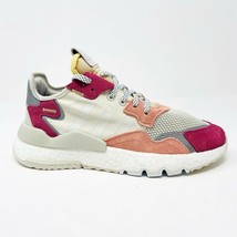 Adidas Nite Jogger White Trace Pink Violet Womens Size 8 Sneakers DA8666 - $69.95
