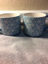 (2)  PFALTZGRAFF COFFEE MUGS / CUPS--EVERYDAY--BLUE SWIRL -FREE SHIP--VGC - $19.07