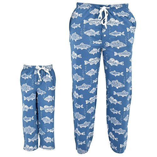 Unique Baby UB Kids Fisherman Print Matching Family Father's Day Pajama Pants (6
