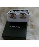 NIB 100% AUTH Chanel 14A A86437 Multi Colored Stone CC Earrings - $582.12