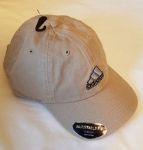 Adidas Adjustable Fit Hat Climalite Brown Dad Baseball Hat Stripes Embroidered - $18.38