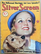 May 1934 SILVER SCREEN Carole LOMBARD Joan CRAWFORD Hollywood Magazine D... - $28.71