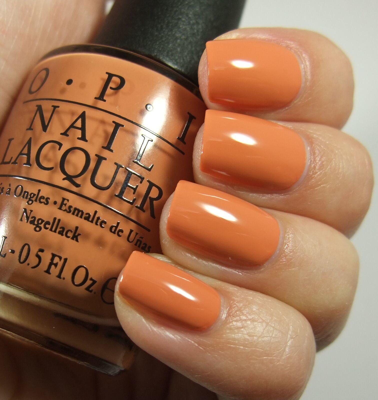 OPI Washington FREEDOM OF PEACH Orange Peach Creme Nail Polish Lacquer W59 .5oz!