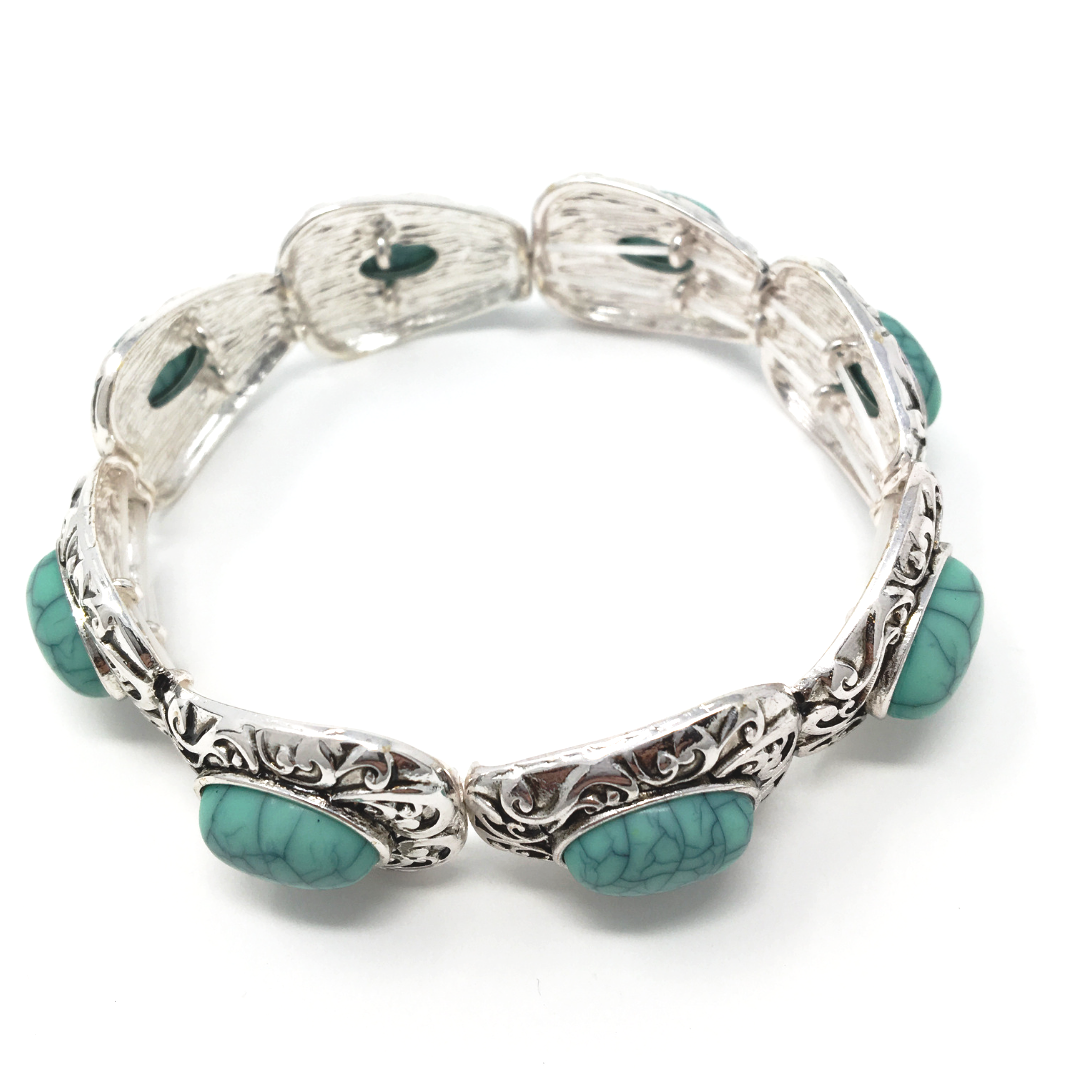 Filigree Pattern Bracelet With Turquoise Gemstone Gift Ideas For Her Women's