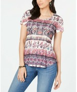 Women's Style & Co Moody Shades Printed Scoop Neck Soft T-shirt Top NWOT... - $5.38