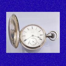 Decorative Vintage Silver Keystone Watch Company 7J 18S Hunter Pocket Watch 1890 - $574.60