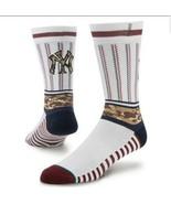 Stance Men MLB Sentry Socks sz Small Yankees Baseball Crew 1 Pair Game S... - $10.21