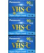 NEW Panasonic VHS-C TC-30 Super High Grade 90min SLP Mode Tapes Set of 3 - $14.84
