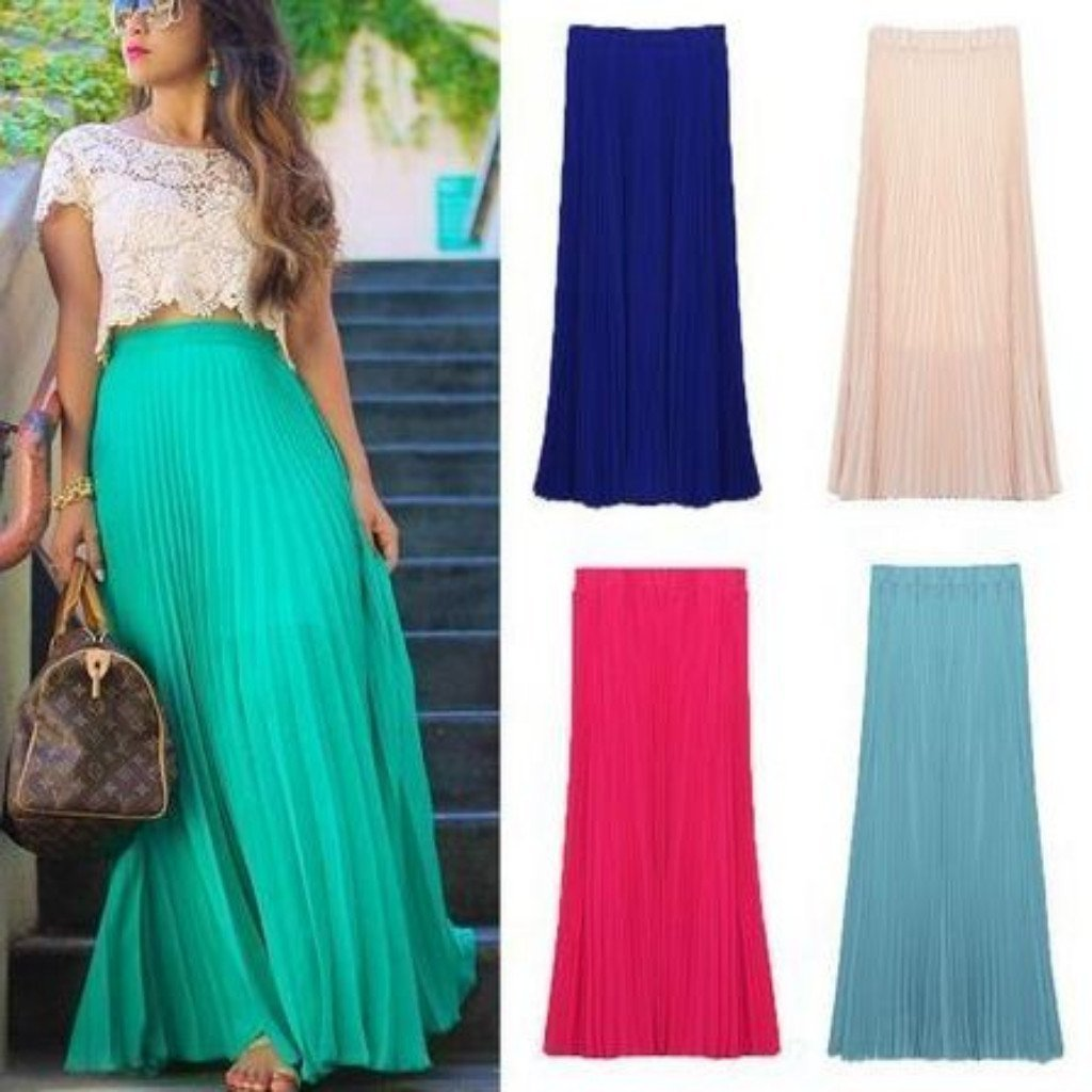 Daisy dress for less skirts tropical long pleated chiffon maxi skirts 1232212361247