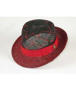 Men Fashion Straw Hat BRUNO CAPELO Diamond Vented Crown 2tone EN971 Blac... - £49.81 GBP