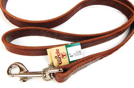 """Brown Leather  4 foot  CIRCLE T 1/2"""" Dog or Puppy Leash  - $19.75"""