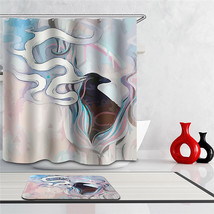 3d Bath Curtain Eagle Shower Curtain animals octopus fabric waterproof abstract  - $36.16