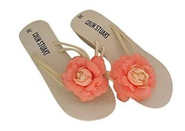 Fashion Summer Item, Rouge Pink Rose Flip Flop Beach Casual Sandals