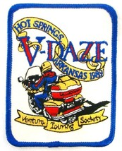 1989 Motorcycle Patch Vintage V-Daze Venture Touring Society Hot Springs AR - $14.67