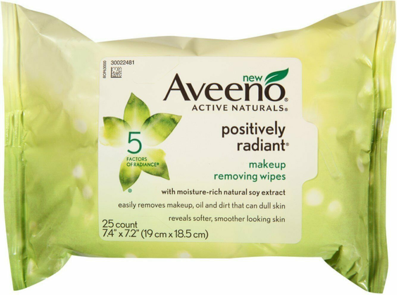 LOT OF 4 - AVEENO Active Naturals Positively Radiant Makeup Wipes, 25 each - $29.65
