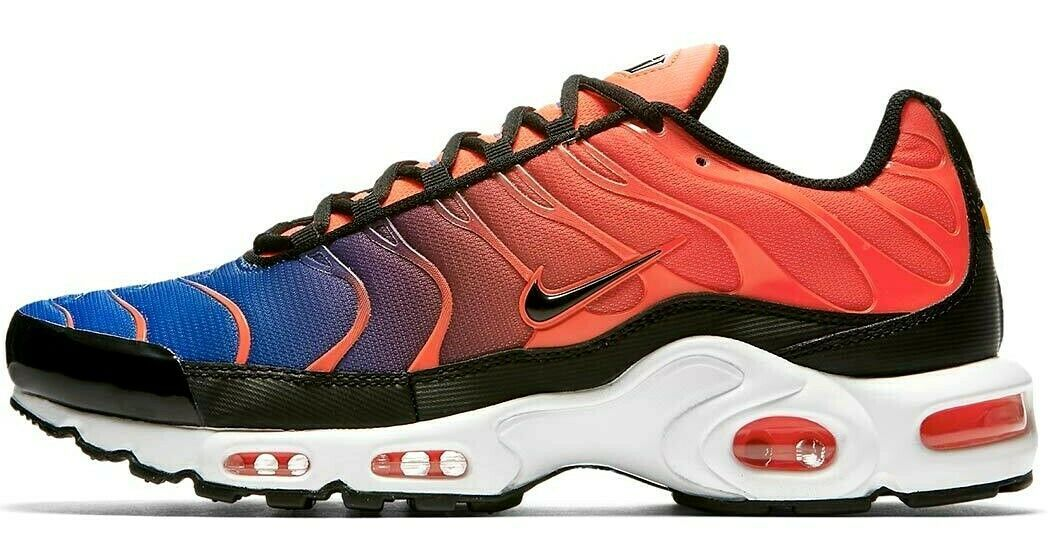 "NIKE AIR MAX PLUS ""GRADIENT PACK"" TOTAL CRIMSON/BLUE SIZE 11 NEW (852630-800)"