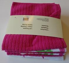 "APPLE HEART MICROFIBER TOWELS 6-pack Dishcloths 12""x12"" Pink Dish Cloths Apples image 6"