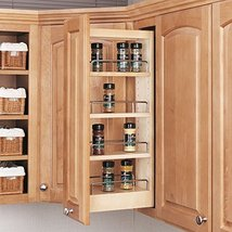 Rev-A-Shelf - 448-WC-5C - 5 in. Pull-Out Wood Wall Cabinet Organizer - $49.38
