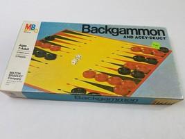 Vintage 1973 Milton Bradley Backgammon Acey-Deucey Game #4319 Complete - $17.75