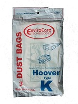 Vacuum Cleaner Bags 6 Bags for HOOVER Spirit Canister Vacuum TYPE K - $6.57