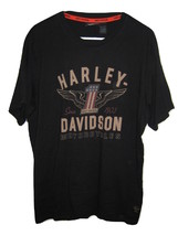 Harley Davidson T Shirt #1 Motorcycles Black Short Sleeve Cotton Mens si... - $9.89