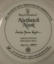 Royal Doulton Nuthatch Nook Collector Plate Carolyn Shores Wright Franklin Mint image 4