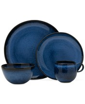 Mikasa Dinnerware Shea Blue 4 Piece Place Setting Service For One NEW - $44.99