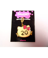 Sanrio Hello Kitty 20 years pendant charm zipper pull yellow metal 2007 - $27.11