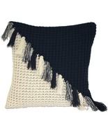 Pillow Decor - Hygge Coast Blue and Cream Knit Pillow - $54.00