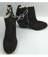 LUCKY BRAND Teverald 2 Women's Ankle Boots Brown Leather Suede Booties S... - $75.00