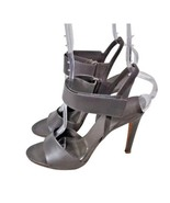 VINCE. Sandals 9 Pumps Strappy Leather Gray - $70.11