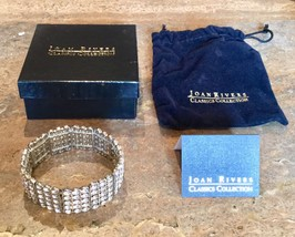 """""""JOAN RIVERS COLLECTION"""" SILVERTONE CRYSTAL STRETCH BRACELET GORGEOUS!! - ₨1,440.22 INR"""