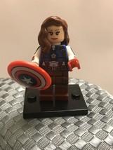 DC Universe Custom Female Captain America Peggy Carter Lego Minifigure, New - $7.99