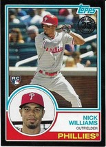 2018 Topps 35TH 1983 Black #24 Nick Williams Rc 256/299 Philadelphia Phillies - $1.99