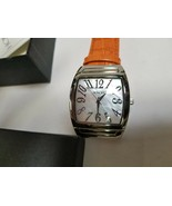 Honora mother of pearl watch orange leather  - $73.66