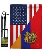 Armenia US Friendship - Impressions Decorative Metal Garden Pole Flag Se... - $27.97