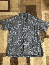 SADDLEBRED Mens Xl Floral Button EASY CARE Shirt AA32 - $7.84